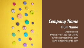 Colorful Sewing Buttons Business Card Template