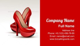 Shoes High Heels Business Card Template