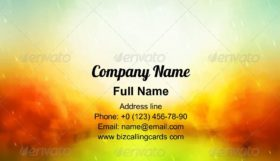 Autumn Watercolor Business Card Template