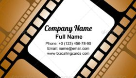 Pattern Of Film Business Card Template
