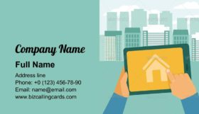 Searching house for rent Business Card Template