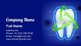 Tooth Protection Concept Business Card Template