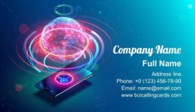 High Speed Communications Business Card Template