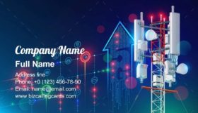 5G communication tower Business Card Template