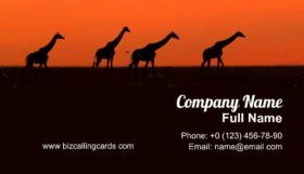 Giraffe in the wild Business Card Template