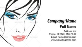 Art beauty girl face Business Card Template