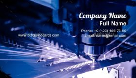 CNC Laser cutting of metal Business Card Template