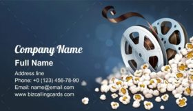 Film-reel Discs in Popcorn Business Card Template