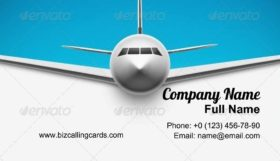 Airplane around the world Business Card Template