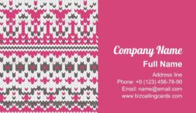 Seamless Knitted Business Card Template
