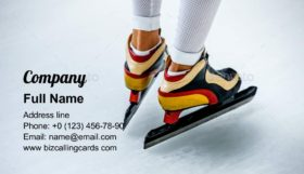 Sport Skating Skates Business Card Template