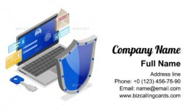 Personal Data Security Business Card Template