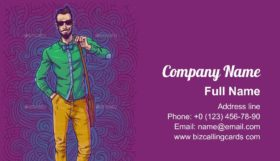 Fashionable Guy Business Card Template