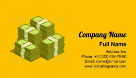 Big pile of cash Business Card Template