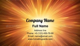 Bright explosion Business Card Template