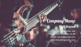 Passionate Guitarist Music Business Card Template