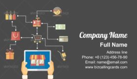 Flow chart infographics Business Card Template