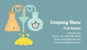 Time and Idea Equals Money Business Card Template