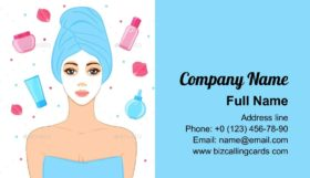 Facial Mask Care Business Card Template