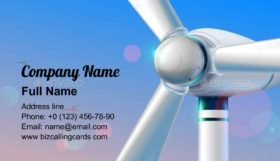 Wind power station Business Card Template
