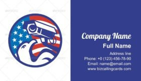 American Bald eagle Security Camera Business Card Template