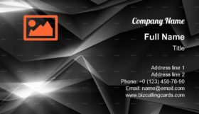 Tech Polygonal backdrop Business Card Template