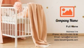 Pastel child's bedroom Business Card Template