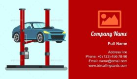 Professional Service Station Business Card Template