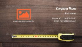 Accuracy Tape Measure Business Card Template