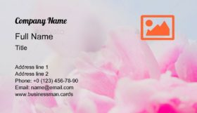 Peony Flowers & Petals Business Card Template