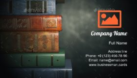 Vintage Books Library Business Card Template
