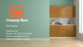 Interior Design Room Business Card Template
