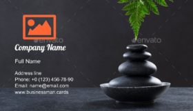 Spa Hot Stone Massage Business Card Template