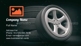Car Tires and Rims Business Card Template