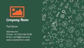 Chemistry Hand Draw Business Card Template