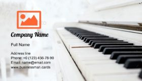 Vintage Piano in a Room Business Card Template