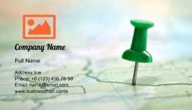 Showing the Location Business Card Template