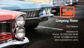Classic Cars Parked Business Card Template