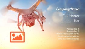 Quadrocopter in Sky Business Card Template