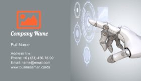 Robot's Arm Working Business Card Template