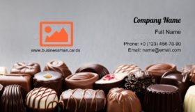 Assortment of Chocolate Business Card Template