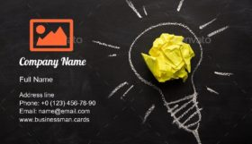 Idea Electric Bulb Drawn Business Card Template