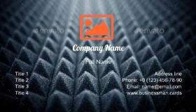 Audio Acoustic Foam Business Card Template