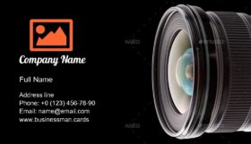 Digital Camera Optical Business Card Template