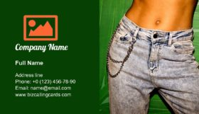 Model denim clothing Business Card Template