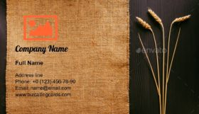 Ears of wheat and cloth Business Card Template