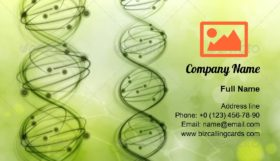DNA molecules Illustration Business Card Template