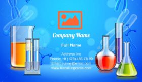 Test Tubes and Flasks Business Card Template