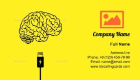 Charge Your Brain Business Card Template