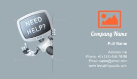Monitor Head Robot Business Card Template